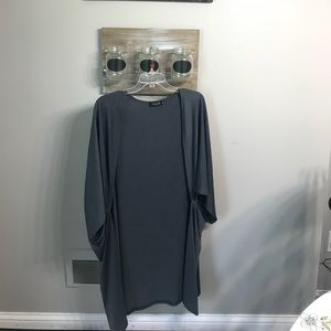Sweaters - NWOT gray oversized cardigan l/xl